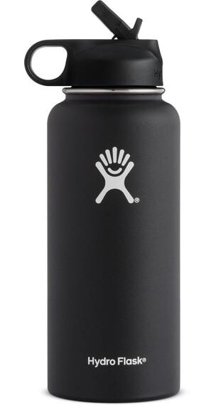 Hydro Flask Wide Mouth Straw Bottle 32oz (946ml) Black